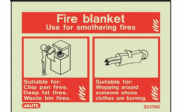 6376ID/R - FIRE BLANKET IDENTIFICATION SIGN 100 x 150mm